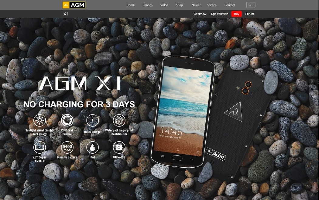 Rugged Smartphone AGM X1 unboxing and..