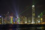 홍콩 구룡반도 해변산책로에서 바라본 홍콩섬 야경