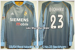 03/04 Real Madrid 3rd L/S No.23 Beckham Match Unworn (Sold Out)