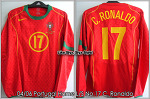 04/06 Portugal Home L/S No.17 C.Ronaldo Player Issue Shirt (Vs. Russia 13 Oct 2004) (SOLD OUT)