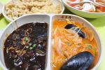 거제 옥포 중국요리 배달 옥포루에서 짬짜면 탕수육 세트