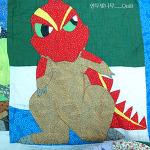 공룡을 좋아했던 아들래미에게 만들어준...공룡이불^^