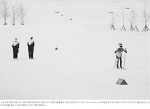 스키애슬론 김은호 응원하는 북한 코치진 사진