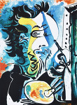 The Artist *22.5cm x 30.5cm 지클레이 프린트(Ed. 44/500) *액자없음* - 파블로 피카소