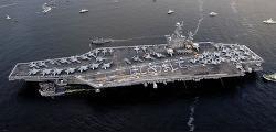 """(2010년 11월) 미 군수자본가 쾌재를 부르다: 오마바 """"신중론""""에서 항공모함 파견"""