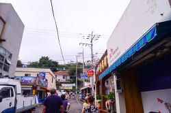 통영의 동쪽 벼랑에 위치한 작은 마을 - 동피랑마을