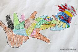 관찰력과 협동심을 길러주는 미술놀이~ 손바닥 그림그리기~!