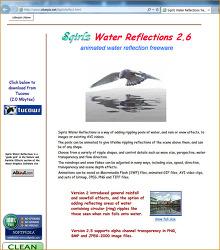 유틸리티. Sqirlz Water Reflections 2.3 - (눈비오는, 물결치는) 애니메이션 gif 만들어 다음 팁에 활용