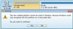 리눅스(LINUX)를 깔아 쓰기 위한 USB메모리 파티션 나누기