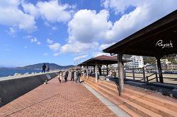 일본에서 가장 긴 족욕탕 나가사키 오바마 홋토홋토105