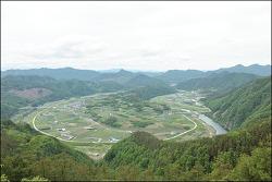 20180507 칠봉산 향로봉 (전북무주) 내도리 앞섬마을과 뒷섬마을조망