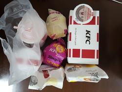 KFC 딜리버리 징거버거&타워버거세트&핫크리스피치킨
