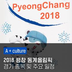 2018 평창 동계올림픽 경기 종목 및 주요 일정 살펴보기!