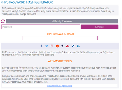PHP5 PASSWORD HASH GENERATOR
