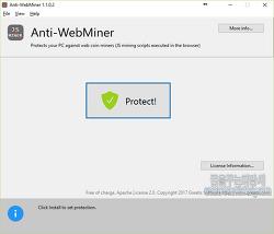 비트코인 및 가상화폐 채굴에 강제 동원하게 하는 스크립트 차단 프로그램-Anti-WebMiner(안티웹마이너)