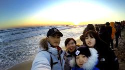(영상) 새해 동해바다에서 - 낙산해수욕장 일출 (2018.01.01)