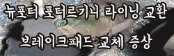 뉴포터 라이닝 교환 브레이크패드 교체 시기 증상 모비스정품 카포스