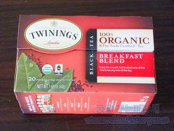 아이허브에서 구매한 Twinings, 100% 유기농 홍차 블렉퍼스트 블렌드 20 티백