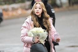 뮤직뱅크 출근길 러블리즈의 서지수 & 케이(Kei) & 류수정 & 정예인