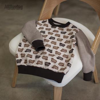 아동복 기본 티셔츠 만들기 - 포항 소잉공방 올소잉 초급과정 -