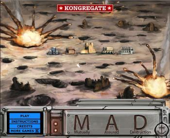 별머루의 추천 플래시게임 - MAD(Mutually Assured Destruction) 미사일방어!!