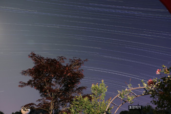 별 궤적사진 인터벌 촬영과 startrails 사진합성.(연습)