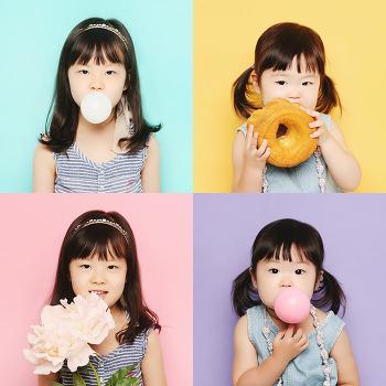 대전 가족사진 : 상큼발랄한 자매 이미지사진