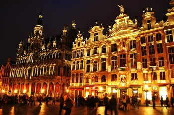 #Brussel night view Wallpaper Photos