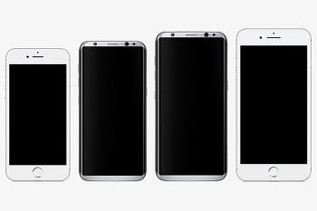 갤럭시S8과 아이폰7 크기 비교 사진 유출!