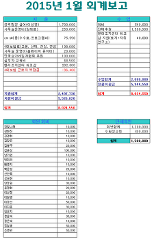 2015년 상반기 재정보고