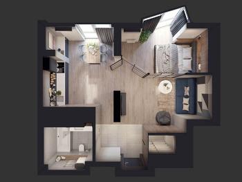작지만 스타일리시한 15평 공간 디자인