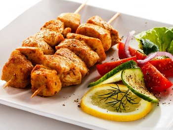 Chicken Skewers HD Wallpaper