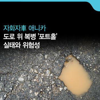 도로 위 복병 '포트홀'의 실태와 위험성 [자화자車 애니카]