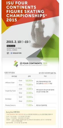 2015 4대륙 선수권 티켓팅 안내
