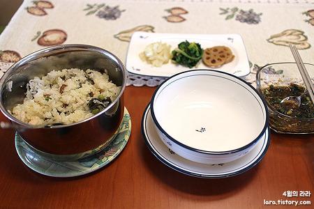 환절기 보양식으로 좋은 영양만점 냄비밥