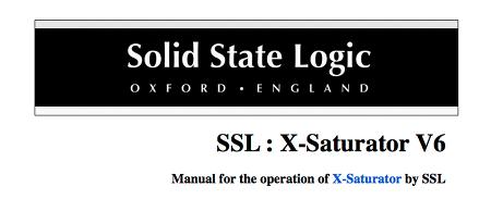 SSL - X-Saturator V6