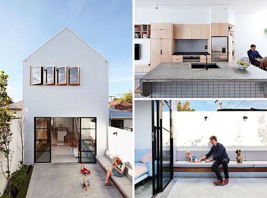 *호주 노후주택리모델링 [ Dan Gayfer Design ] A Young Family On A Small Property In The City