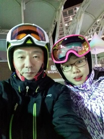 스키장에서...