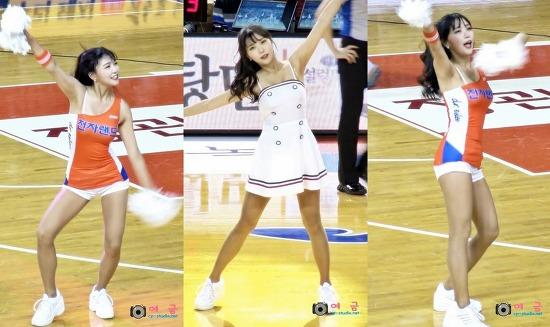 [60fps][17.11.19] 이주희(Lee Joo Hee) 치어리더 스윙 베이비 & 업타운 펑크 cover dance 직캠 at 삼산월드체육관 by 여금