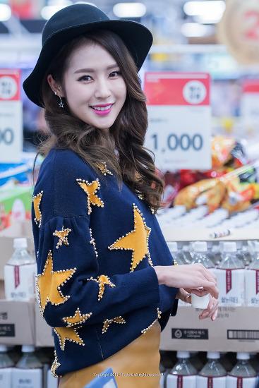 롯데 치어리더, 박기량: '쌀눈 i 워터' 홈플러스 입점기념 팬사인회