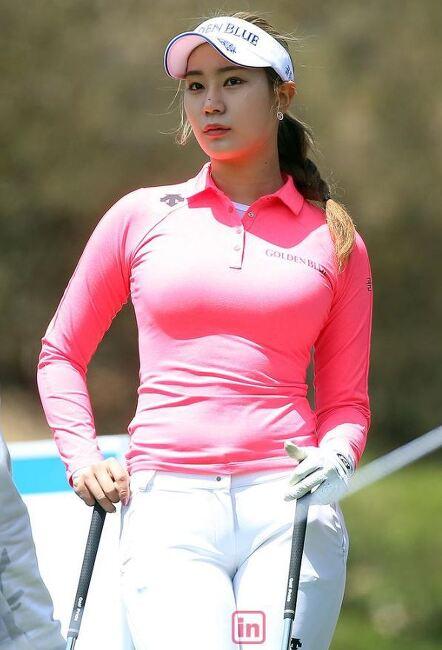프로골퍼 유현주, 안신애 프로를 능가하는 몸매