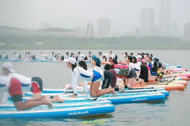 제2회 코리아 SUP 요가 페스티벌 뚝섬 윈드서핑장
