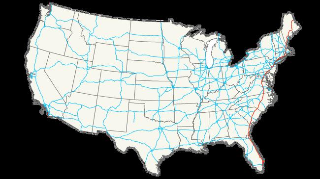 미국 동부의 대표적 도로 Interstate 95