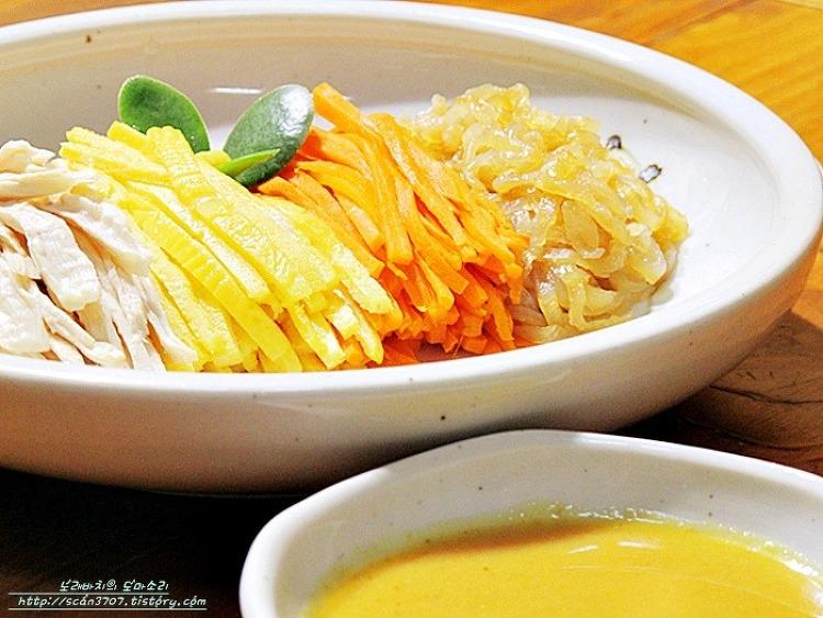 더위에지친 입맛 살려요 ^^ 닭가슴살 겨자채.