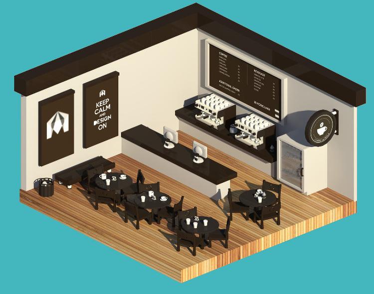 Maya 2016 Cafe Modeling