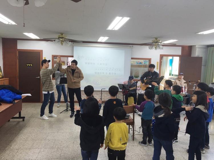 2017년 2월 25일 한만두식품, 찬양팀 방문
