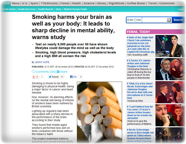 흡연-담배-금연-담뱃값-담배가게-금연구역-해수욕장금연-여성흡연-청소년흡연-고혈압-당뇨-비만-뇌기능-학습-기획력-치매-체중-흡연자-인지기능-장수-건강-건강관리-힐링-웰빙-음식-뇌경색-뇌구조-잠-수면-알츠하이머-폐암-폐-파킨슨씨병-성인병-뇌종양