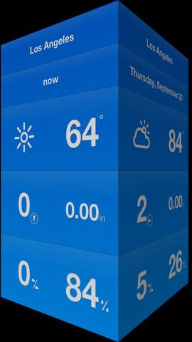 Weathercube - Gestural Weather  아이폰 아이패드 추천 날씨 일기예보