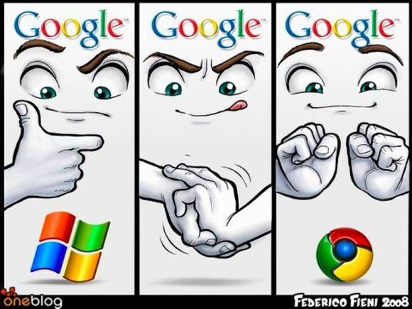 이미지 출처: 구글 이미지 검색, http://dashes.com/anil/2009/07/googles-microsoft-moment.html, 일부 수정편집