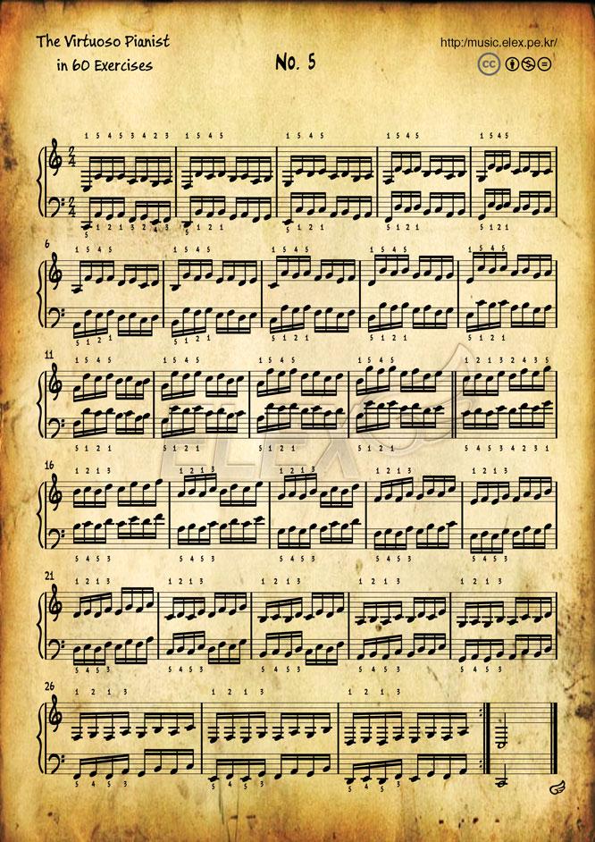 The Virtuoso Pianist in 60 Exercises #5